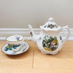 Made in England Teapot & Tea Cup Set